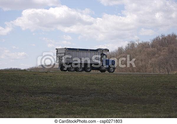 camion, décharge - csp0271803