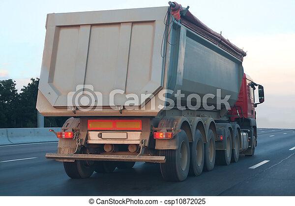 camion, décharge, va, autoroute - csp10872025