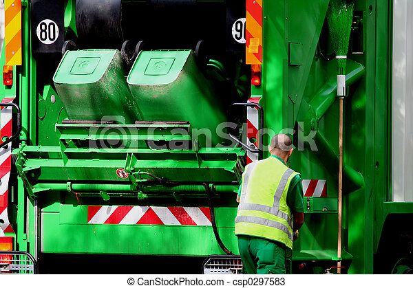 camion, déchets - csp0297583