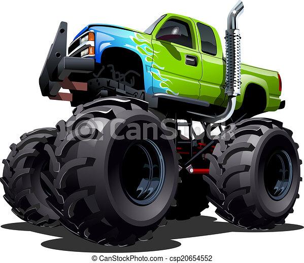 camion, dessin animé, monstre - csp20654552