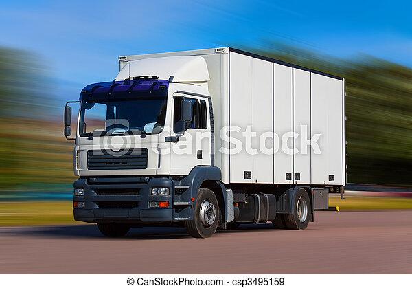 camion, fret, route - csp3495159