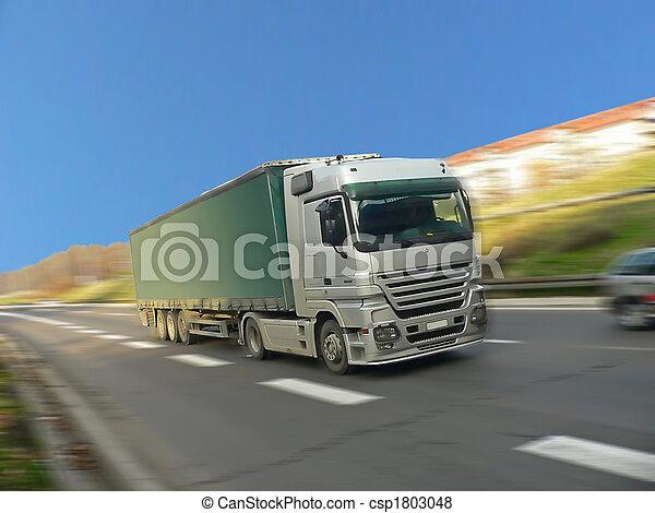 camion, jeûne, conduite, argent - csp1803048