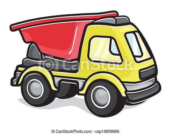 camion jouet, gosses - csp14809666