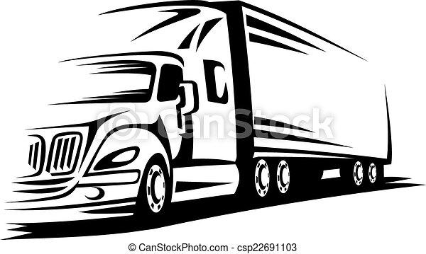 camion mouvement - csp22691103