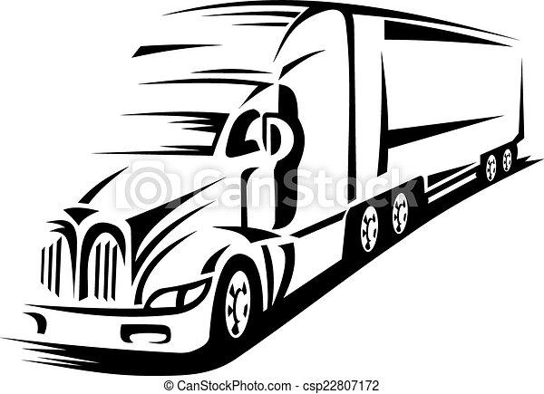 camion mouvement - csp22807172