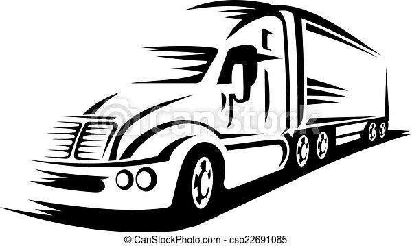 camion mouvement - csp22691085