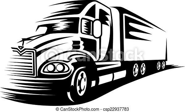 camion mouvement - csp22937783