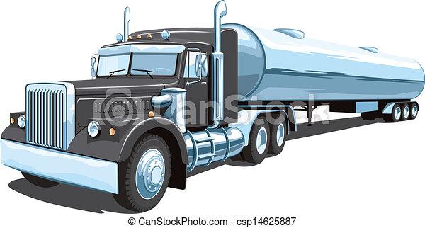 camion navire-citerne - csp14625887
