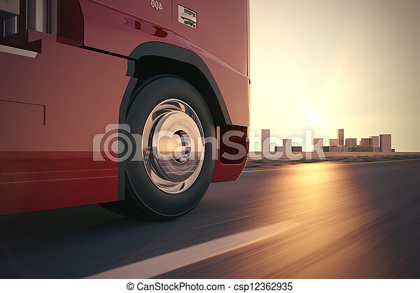camion, road. - csp12362935