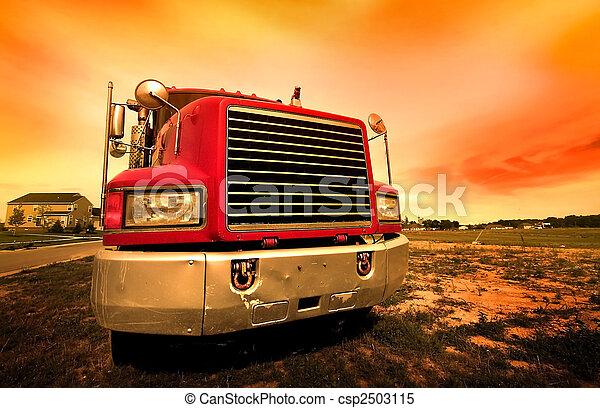 camion, rouges - csp2503115