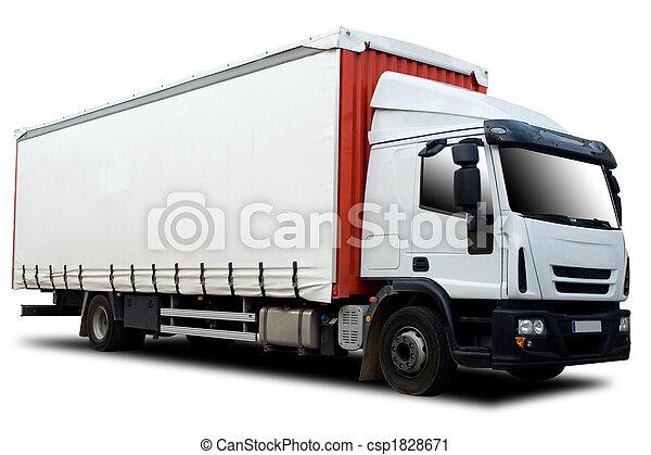 camion, semi - csp1828671