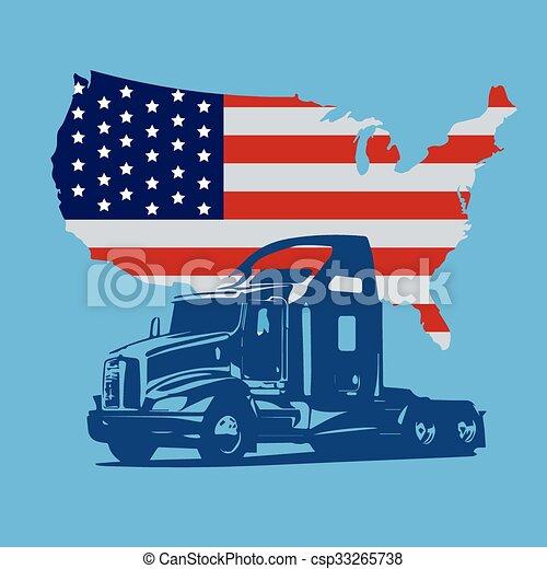 camion, semi - csp33265738