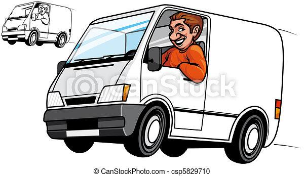 Un camión de reparto - csp5829710