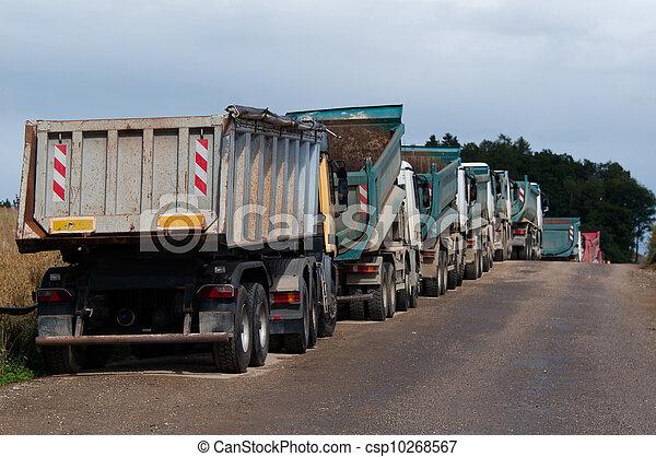 camions décharge - csp10268567