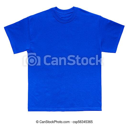 Camisa Azul Cor T Modelo Em Branco
