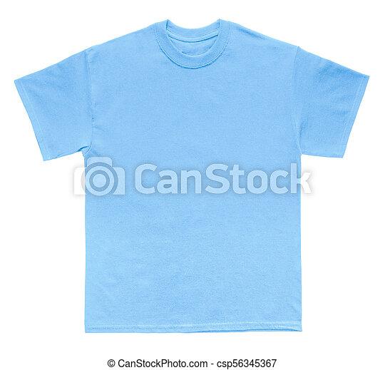 Camisa Azul Cor T Modelo Em Branco Carolina