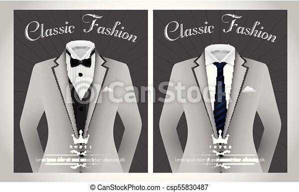 Traje verde de negocios realista con corbata y camisa blanca