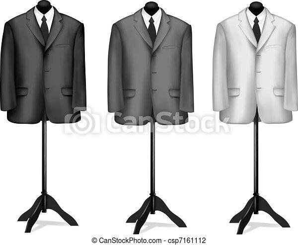 Traje negro y camisa blanca - csp7161112