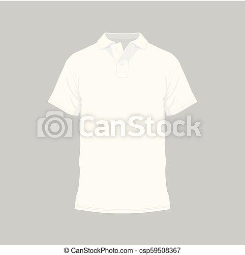 Camiseta blanca de hombre - csp59508367