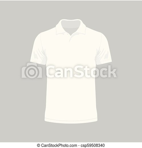 Camiseta blanca de hombre - csp59508340