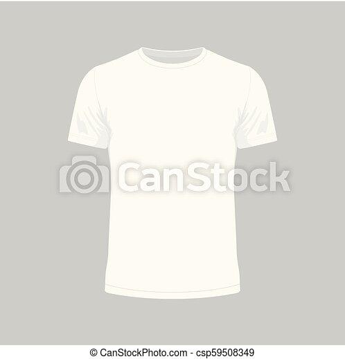 Camiseta blanca de hombre - csp59508349