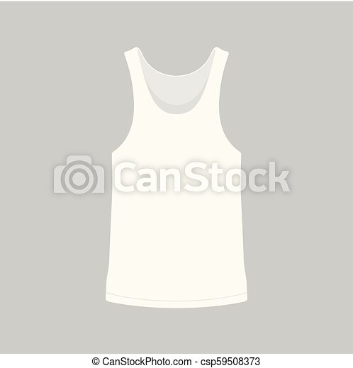 Camiseta blanca de hombre - csp59508373