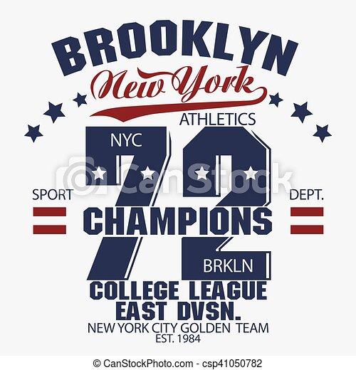 Gráficos de camisetas de Brooklyn - csp41050782