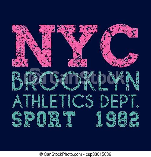 Mecanografía de Nueva York, gráficos de camisetas - csp33015636