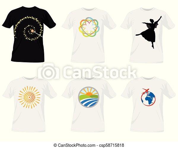 Las plantillas de camiseta - csp58715818