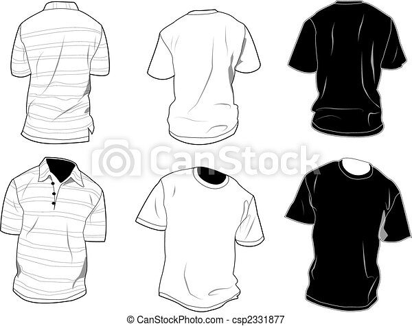 Las plantillas de camiseta - csp2331877