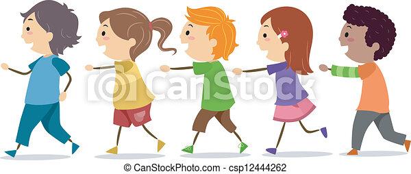 Camminare bambini linea uno bambini scuola camminare for Camminare in piani di progettazione dispensa
