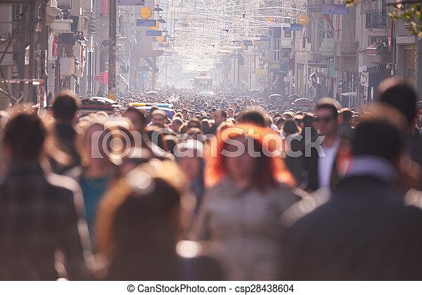 camminare, strada, folla, persone - csp28438604