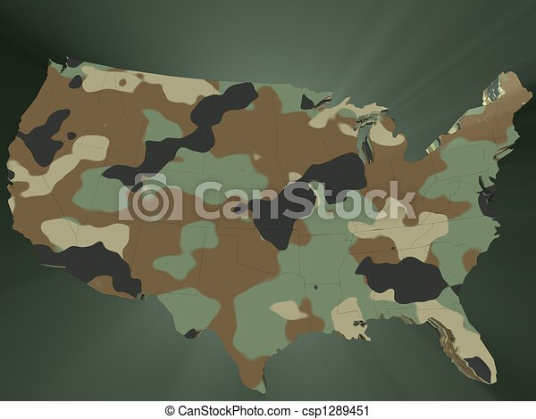 Line Art Usa Map : Camouflage map of the usa united states america in