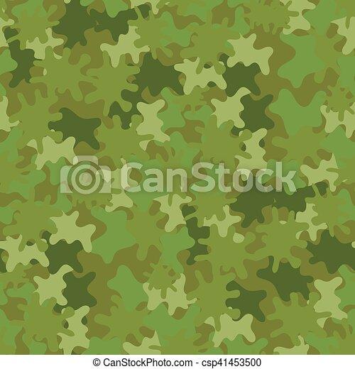 Camouflage Seamless Background. Woodland Style. - csp41453500
