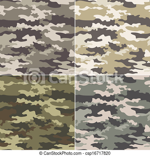 camouflage seamless pattern  - csp16717820