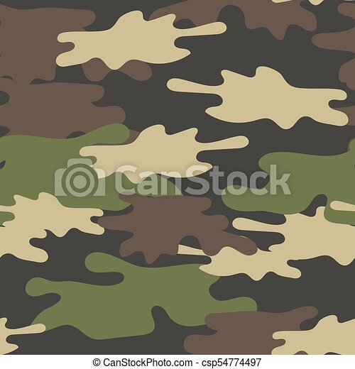 Camouflage Seamless Pattern Military Repeat Army Texture Green New Army Pattern
