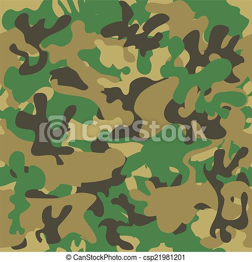 Camouflage seamless pattern. Woodland style - csp21981201