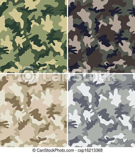 Camouflage Seamless Patterns - csp16213368