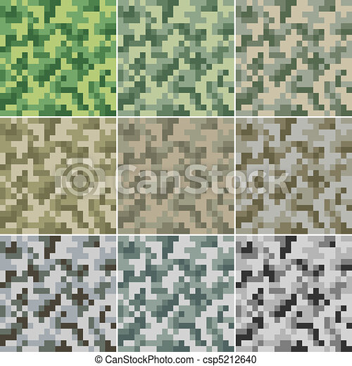 Camouflage seamless - csp5212640