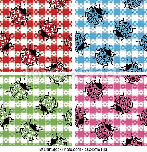 Camouflaged Ladybugs - csp4249133