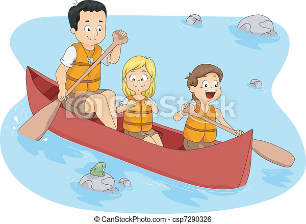 camp boating illustration of campers boating rh canstockphoto com boat clipart template boat clip art black and white