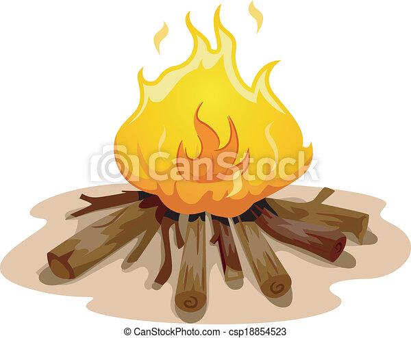 Camp Fire - csp18854523