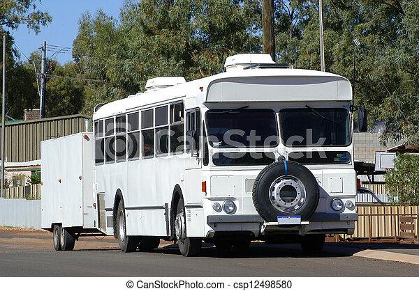 camp-site, autobus, because, arrangé - csp12498580