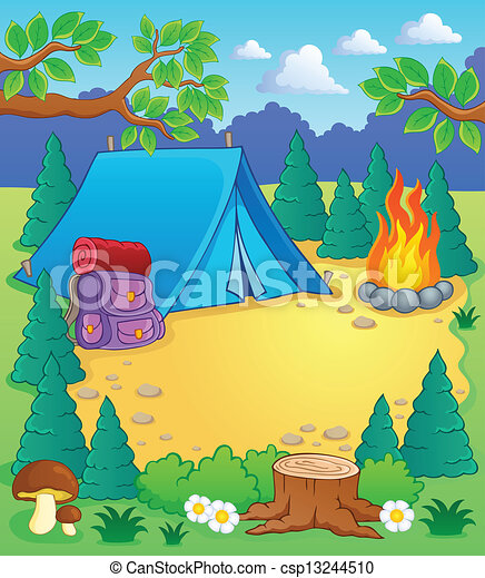 Camp theme image 1 - csp13244510