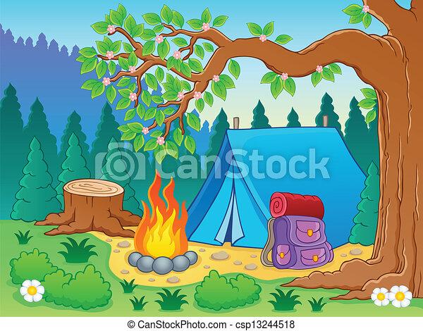 Camp theme image 2 - csp13244518