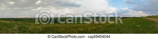 campagne, panorama, vallonné - csp59454044
