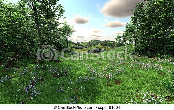 campagne, prés, collines - csp6461864
