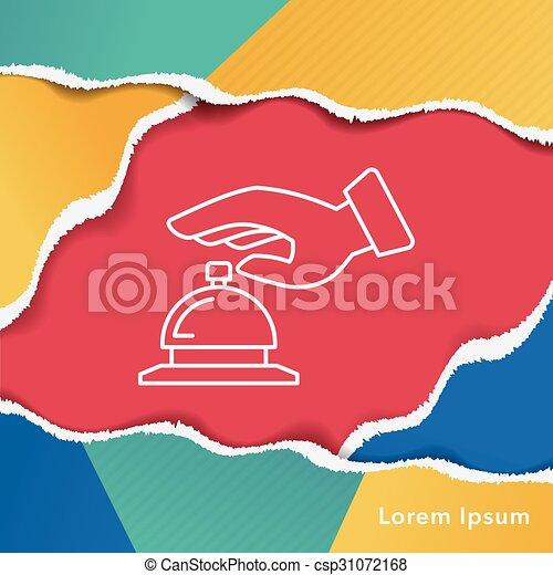 El ícono de la campana del hotel - csp31072168