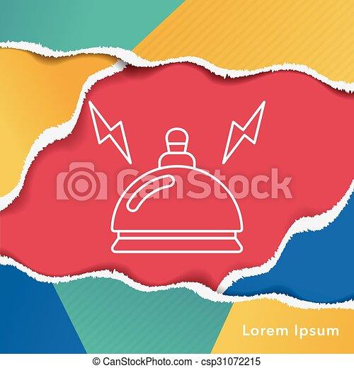 El ícono de la campana del hotel - csp31072215