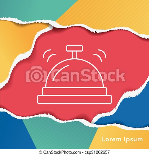 El ícono de la campana del hotel - csp31202657
